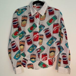 ✨Lazy Oaf✨ Knockoff Soda Can Button Up